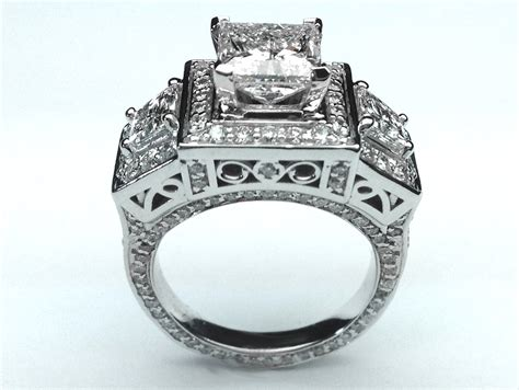 engagement ring large princess cut engagement