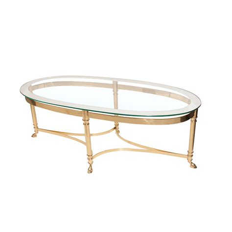 Mid Century Brass Base Glass Top Coffee Table Attributed Antique Glass Top Coffee Table