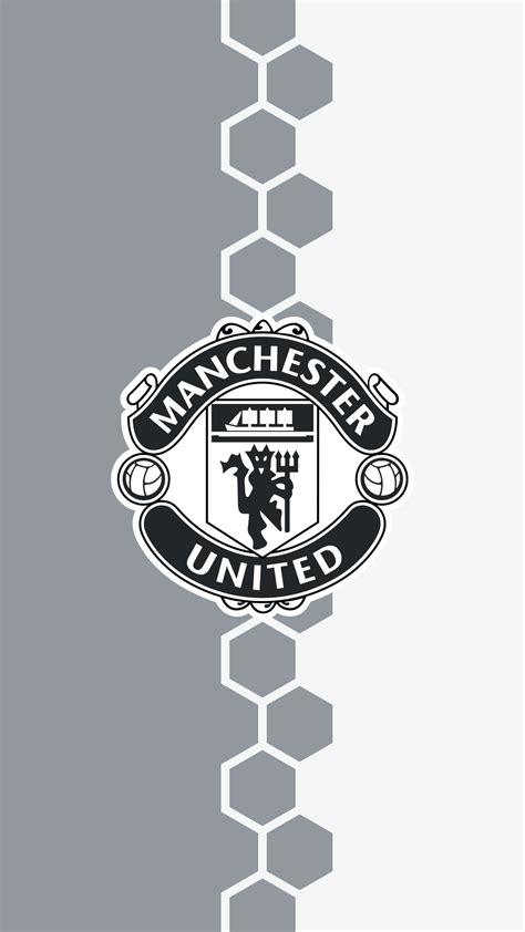 manchester united logo black and white wallpaper www