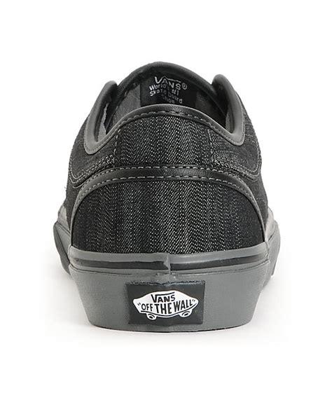 vans chukka low black canvas pewter skate shoes zumiez