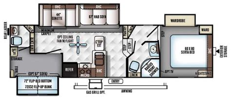 5th wheel bunkhouse floor plans bunkhouse fifth wheel rv floorplans so many to choose