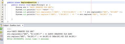 java pattern replace string string java replace replaceall strange behavior stack