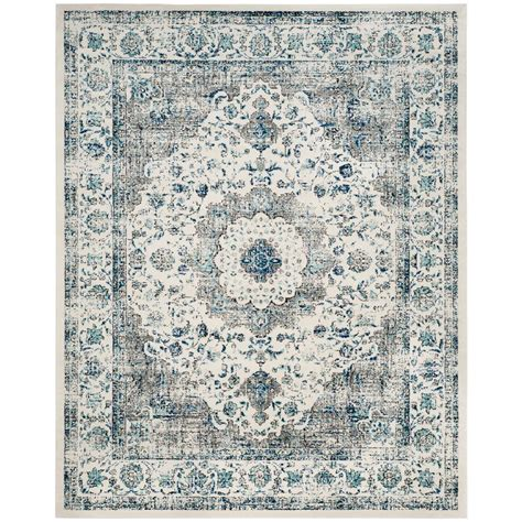 12 X 9 Area Rug Safavieh Evoke Gray Ivory 9 Ft X 12 Ft Area Rug Evk220d 9 The Home Depot