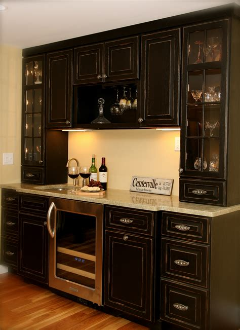 kitchen bar furniture dark wood kitchen wudwurks custom cabinets