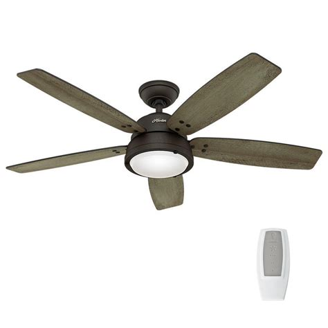 indoor outdoor ceiling fans channelside 52 in led indoor outdoor noble bronze
