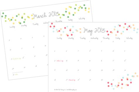 printable calendars pretty free printable calendar 2013 cute www proteckmachinery com
