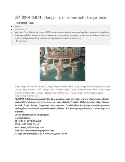 Meja Marmer Voc 081 3344 15874 harga meja marmer asli harga meja