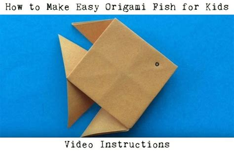 Simple Origami Fish - easy origami for animals with