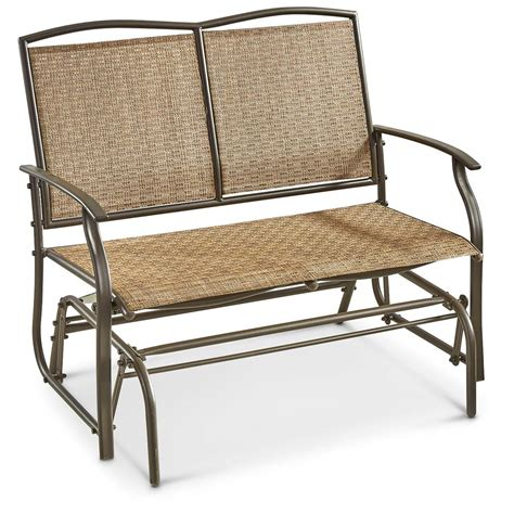 Castlecreek double glider chair 657777 patio furniture at sportsman s guide