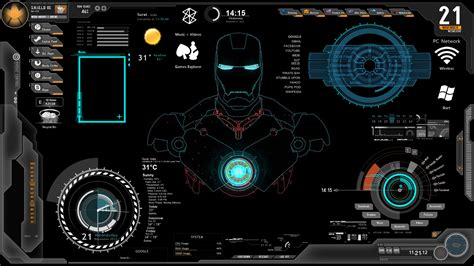 Free Rainmeter Themes Download For Windows 7 | ironman1 windows7 rainmeter theme