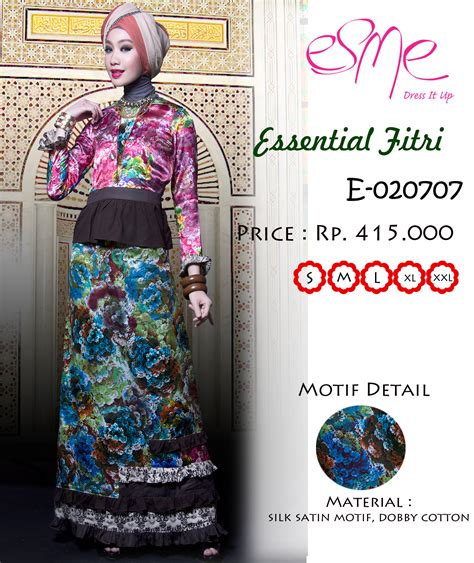 Baju Muslimah Esme E 010311 Pink Summer Dress esme ef e 020707 baju muslim gamis modern