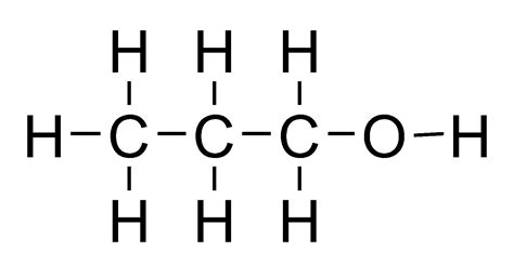 propanol diagram file propanol flat structure png