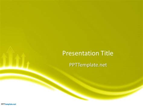 template powerpoint yellow free green ppt template