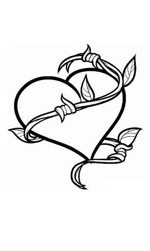 How To Draw Heart Tattoo Drawings Pinterest Heart Easy Tattoos To Draw 3