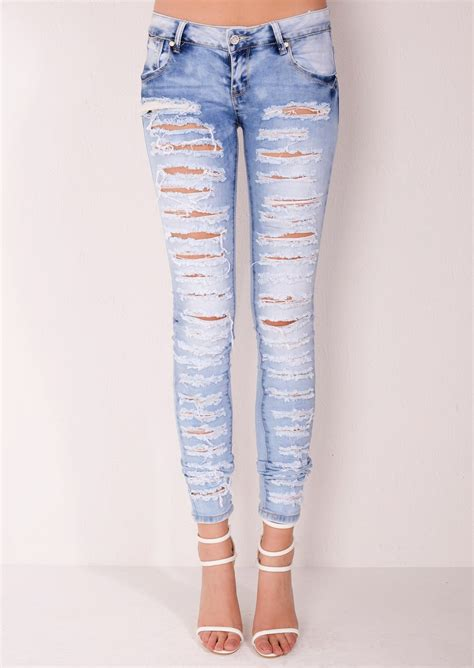 light ripped jeans womens light ripped jeans bbg clothing