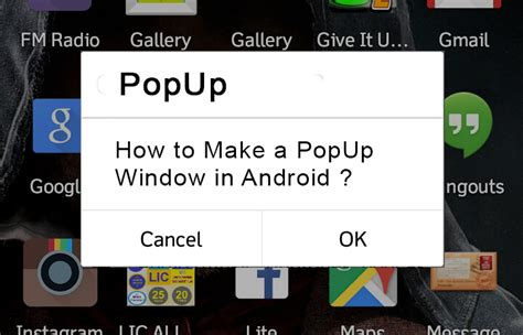 android popup blocker how to create a shopping cart application in android uandblog