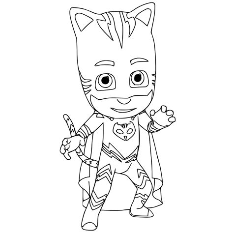 Cat Boy Coloring Page | catboy colouring page get coloring pages
