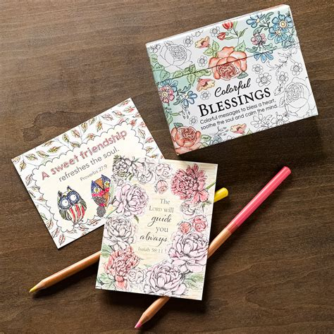 the color of blessings books new colorful blessings cards to color greeting