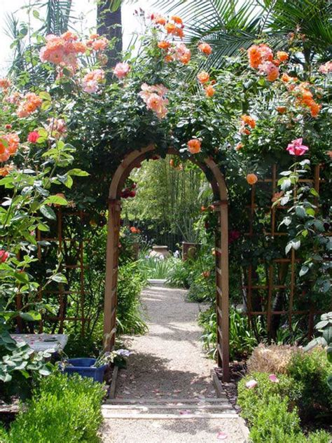 backyard arbor hydrangea hill cottage garden arbors