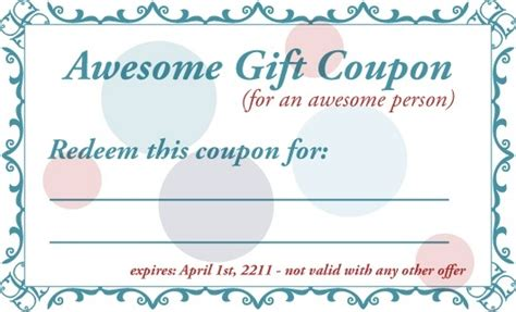 powerpoint coupon template printable gift coupon famousmore