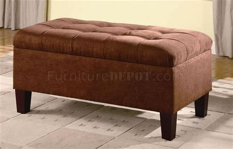 how to build an ottoman with legs chocolate microfiber storage ottoman w cappuccino legs