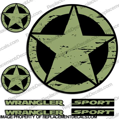 jeep army star truck decals
