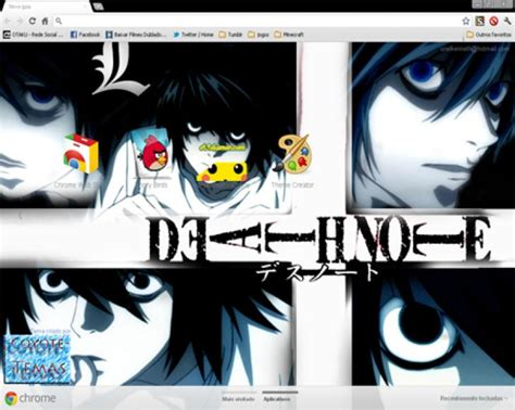 google chrome themes anime death note death note l chrome theme themebeta