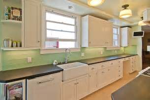 Green Glass Tiles For Kitchen Backsplashes Tile Kitchen Backsplash Ideas With White Cabinets Home