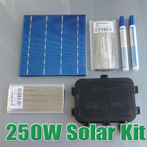 solar panel kit price 250w diy solar panel kit 6x6 156 polycrystalline poly solar cell tab wire wire flux pen