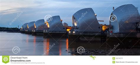 thames barrier animation low tide at the thames barrier royalty free stock