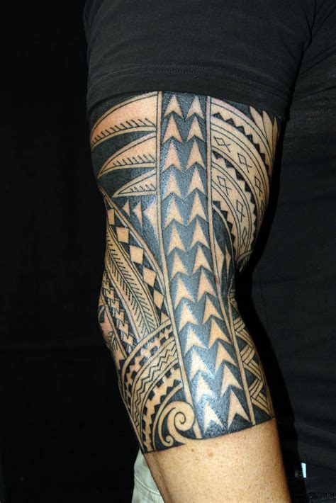 full arm tattoo tribal sleeve polynesian designs cool tattoos