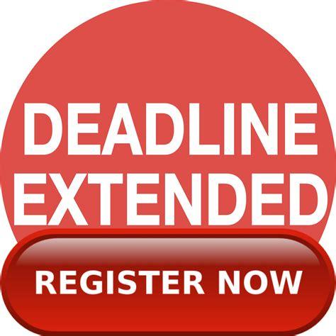 extended deadline for cukai taksiran 2014 youth registration deadline extended bhi tournaments