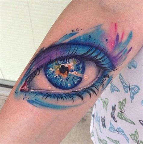 watercolor tattoo eye watercolor eye design