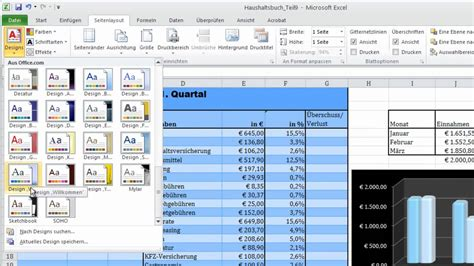 layout excel tabelle excel 2010 designs 228 ndern youtube
