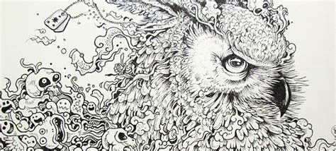 doodle drawing pen beautifully detailed pen doodles by artist kerby rosanes