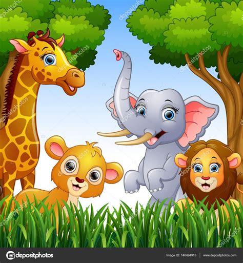 imagenes animales de la selva animados colecci 243 n de dibujos animados animales en la selva