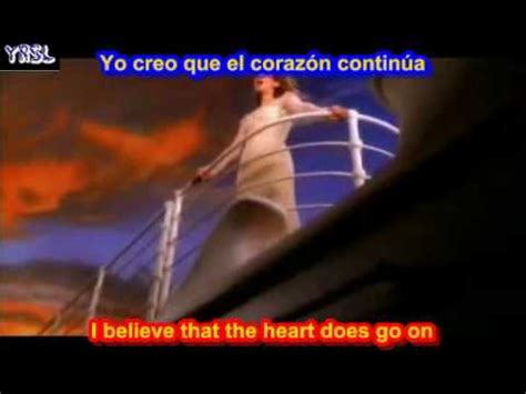 tattooed heart letra y traduccion my heart will go on titanic celine dion subtitulado