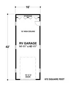 Rv Garage Floor Plans by The House Designers Rv Garage One