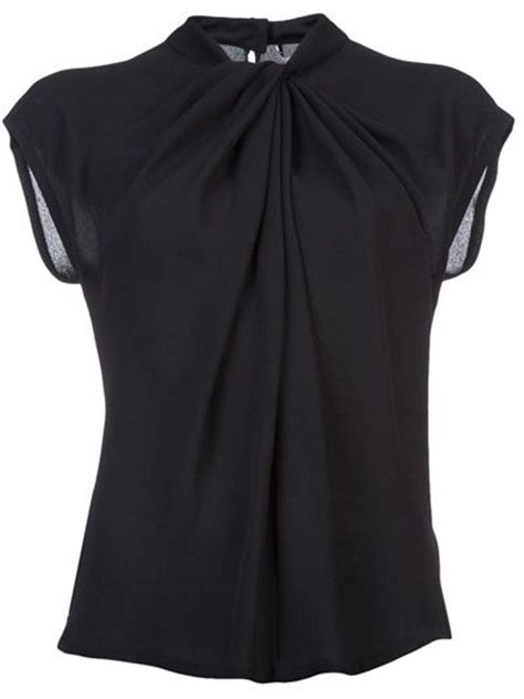 Poplin Shirt Blouse Blouse Korea Blouse Bangkok Fashion Bkk Import black work blouse clothing