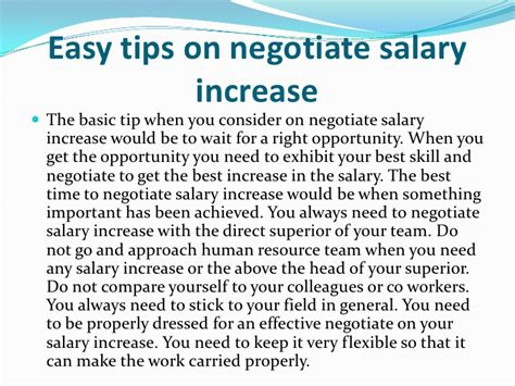 tips on negotiate salary increase