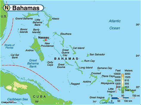 bahamas on map bahamas the map travelquaz