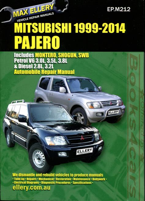 motor repair manual 2002 mitsubishi montero free book repair manuals mitsubishi montero shop manual pajero service repair book 2000 2014 ellery guide ebay