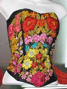 Mexican Wardrobe by Mexican Fashion Corset Embroidered Blouses