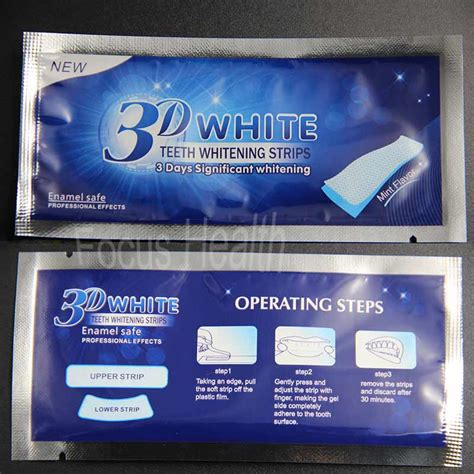 Pemutih Gigi pemutih gigi ultra whitening 3d teeth strips 14pcs