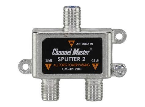 T Antena Tv 2 Way Spliter tv antenna splitter 2 way channel master
