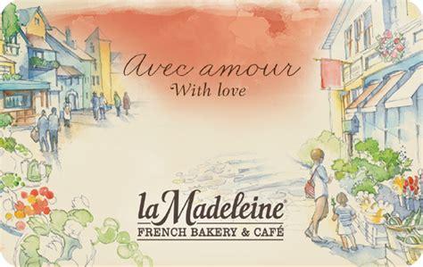 kroger la madeleine gift card - La Madeleine Gift Card