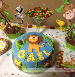 Jungle themed baby shower cake cakes and more by nora