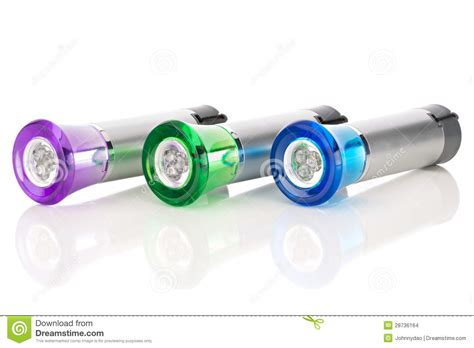 multi colored flashlight multi colored led flashlights stock images image 28736164