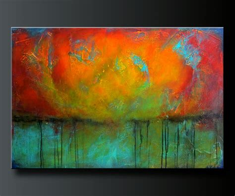 best acrylic paint for abstract oxidized metal 4 36x 24 acrylic abstract painting highly