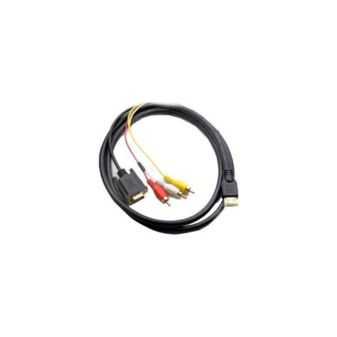 harga jual 5 ft hdmi to vga 3 rca converter adapter cable